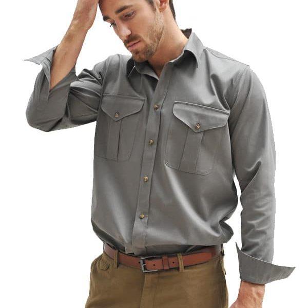 Mens Cotton Twill Safari Shirt Mens Safari Shirt Tim