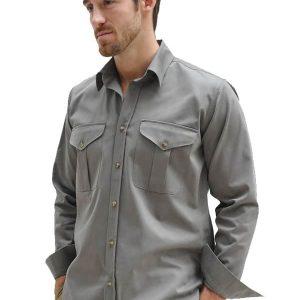 Cotton Twill Safari Shirt