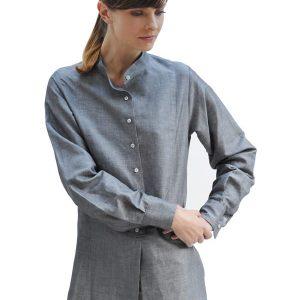 Cotton And Linen Dress Shirt