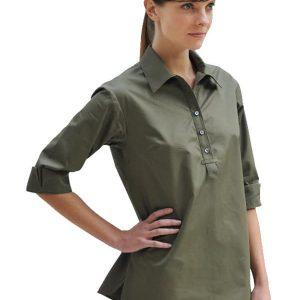 Cotton Pull-on Safari Shirt
