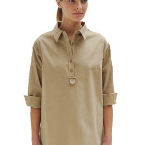 Cotton Stretch Safari Shirt
