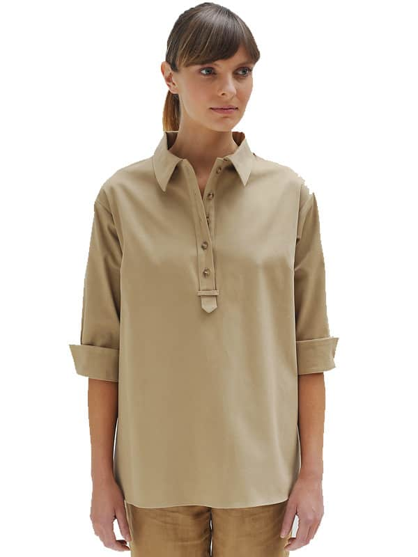 Cotton Stretch Safari Shirt