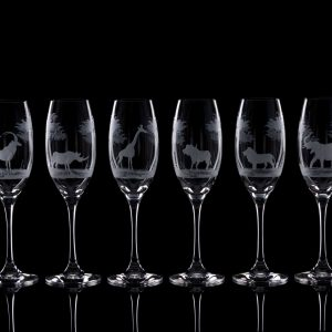 Crystal Champagne Flutes – Set Of Six