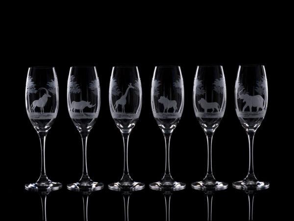 Crystal Champagne Flutes - Set Of Six
