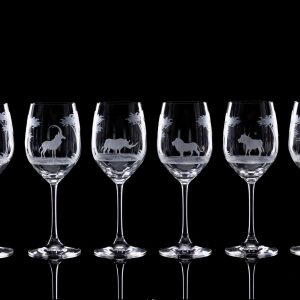 Crystal Red Wine Glasses – Set Of Six