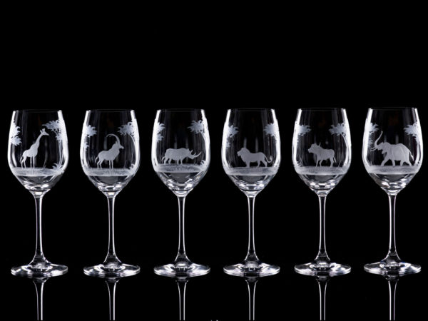 Crystal Red Wine Glasses - Set Of Six