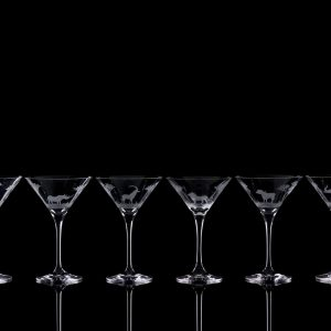 Crystal Martini Cocktail  - Set Of Six