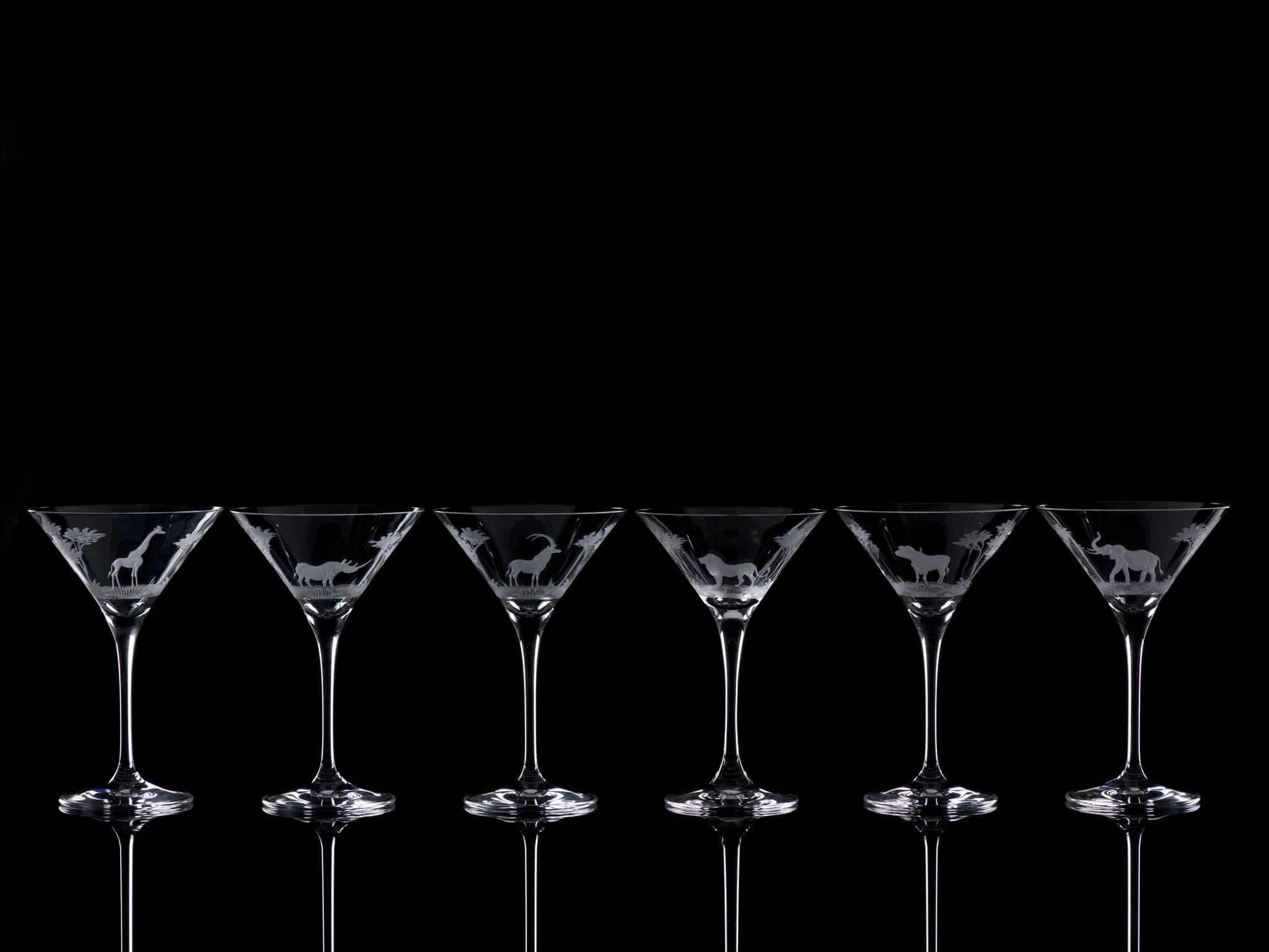 Crystal Martini Cocktail  - Set Of Six