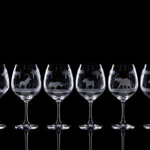 Crystal Wine Goblets – Set Of Six