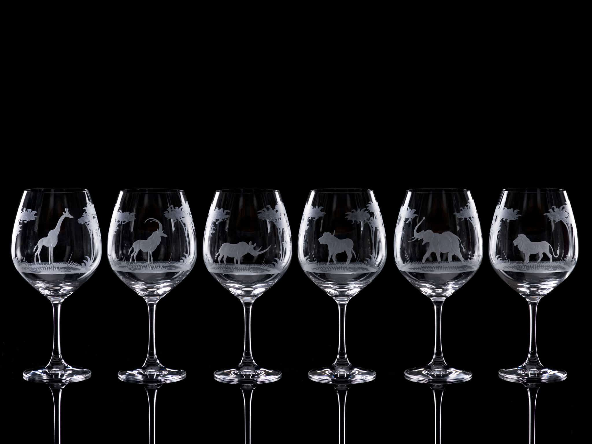 Crystal Wine Goblets - Set of Six