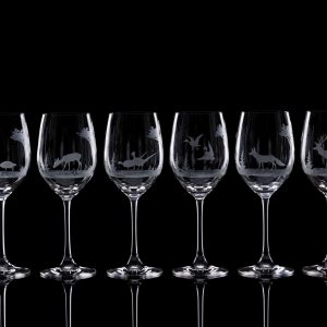 Crystal White Wine Glasses – Set Of Six