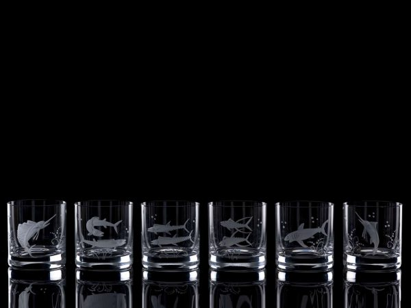 Crystal Whisky Tumblers - Set Of Six