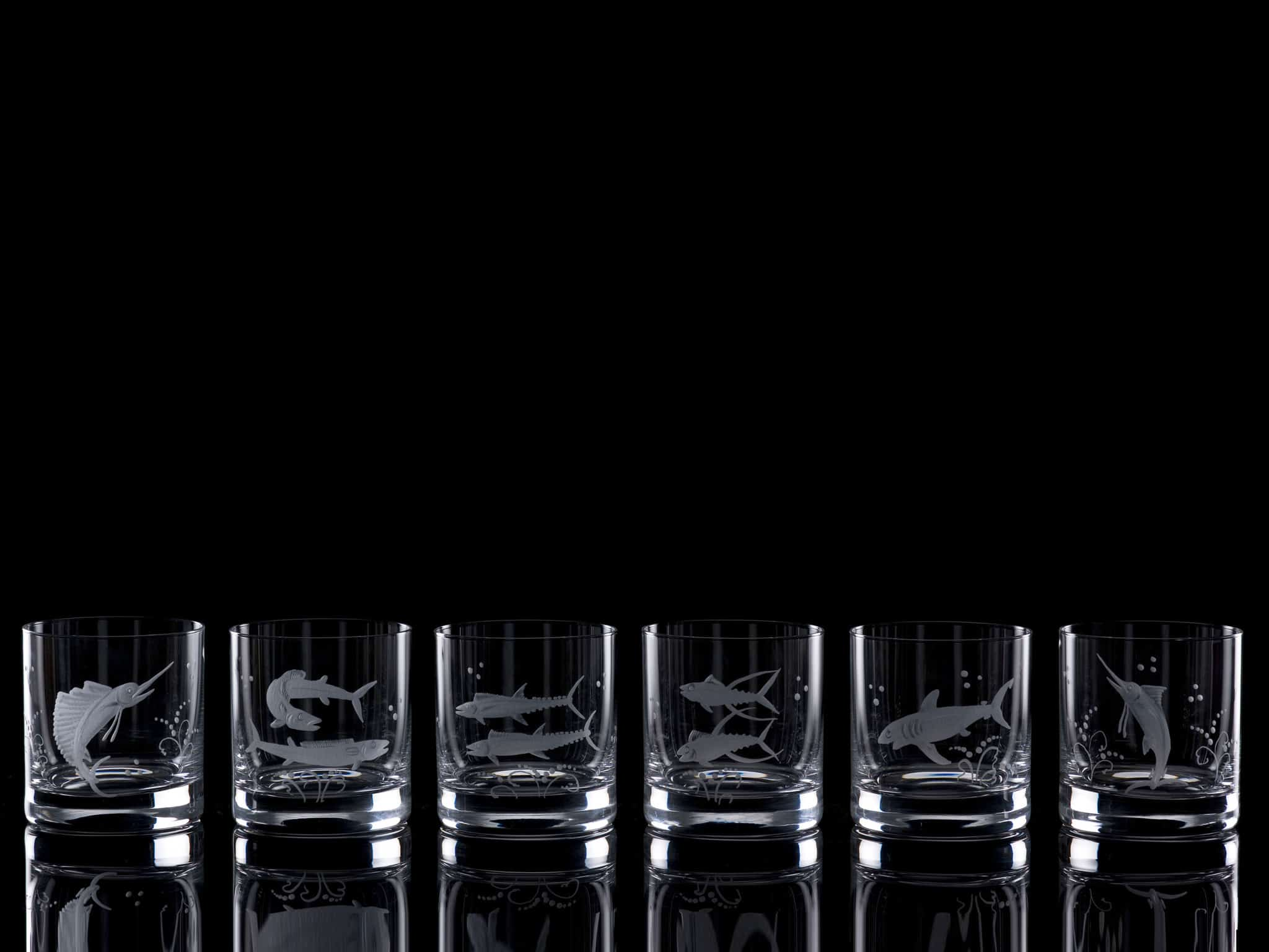 Crystal Whisky Tumblers - Set of Six