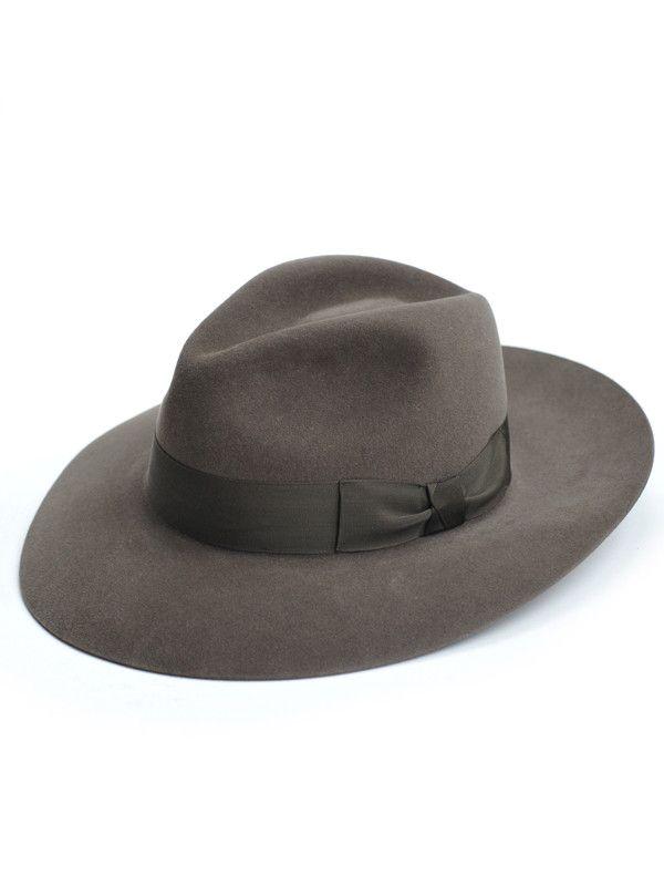 Fur Felt Fedora Hat Sage