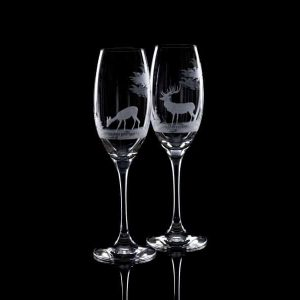 Crystal Champagne Flutes - Set Of Six