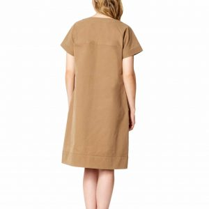 Cotton Drill Cocoon Dress