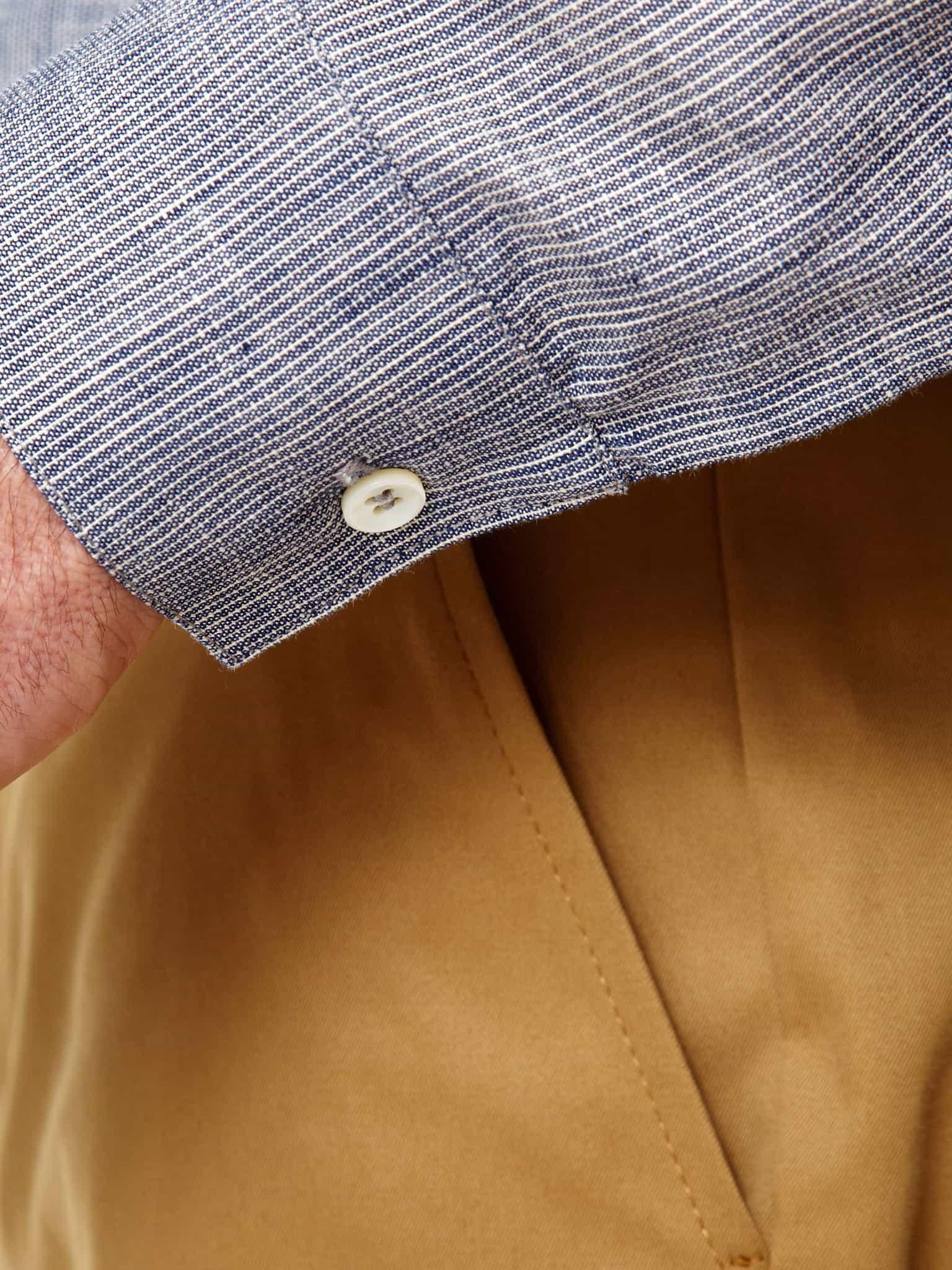 Chambray Collarless Shirt