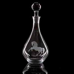Crystal Wine Decanter Horses
