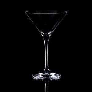 Plain Crystal Martini Cocktail Glass