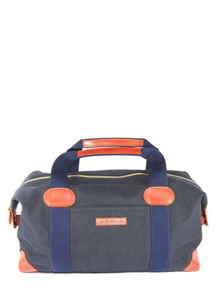 Canvas and Leather Holdall