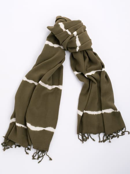 Bamboo and Cotton Scarf - Moss
