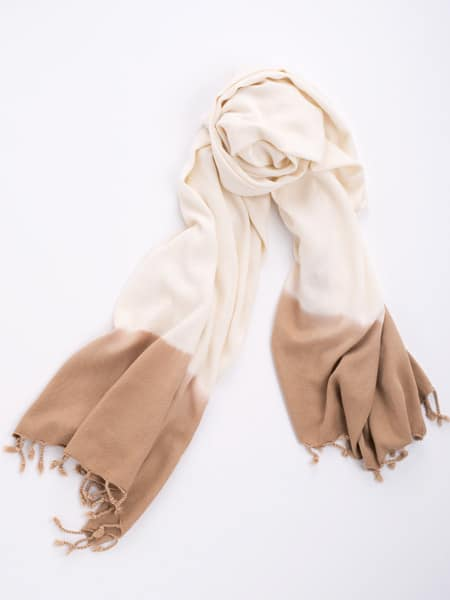 Bamboo and Cotton Scarf - Beige