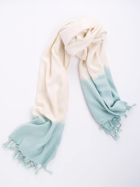 Bamboo and Cotton Scarf - Pale Blue