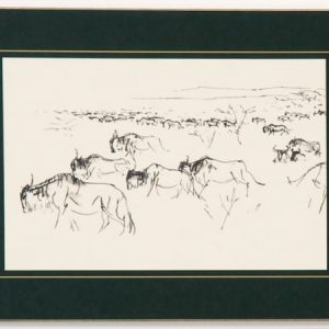 Table Mat – Wildebeest