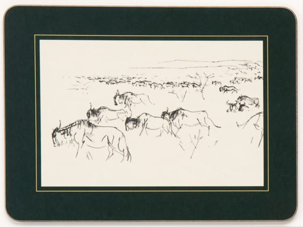 Table Mat - Wildebeest