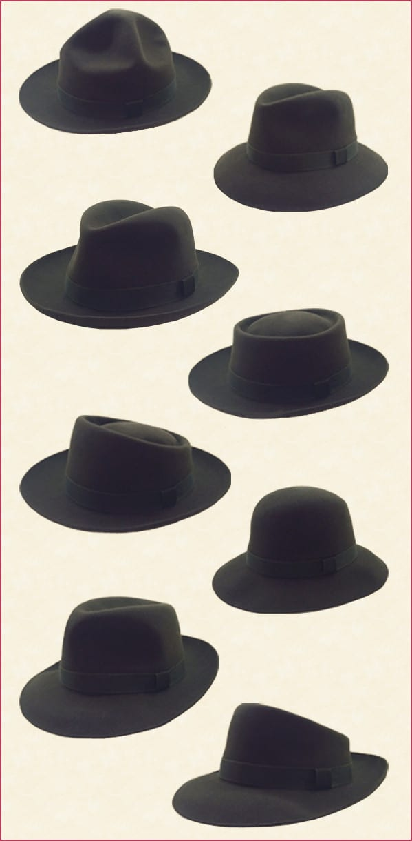Fur Felt Foldable Hat