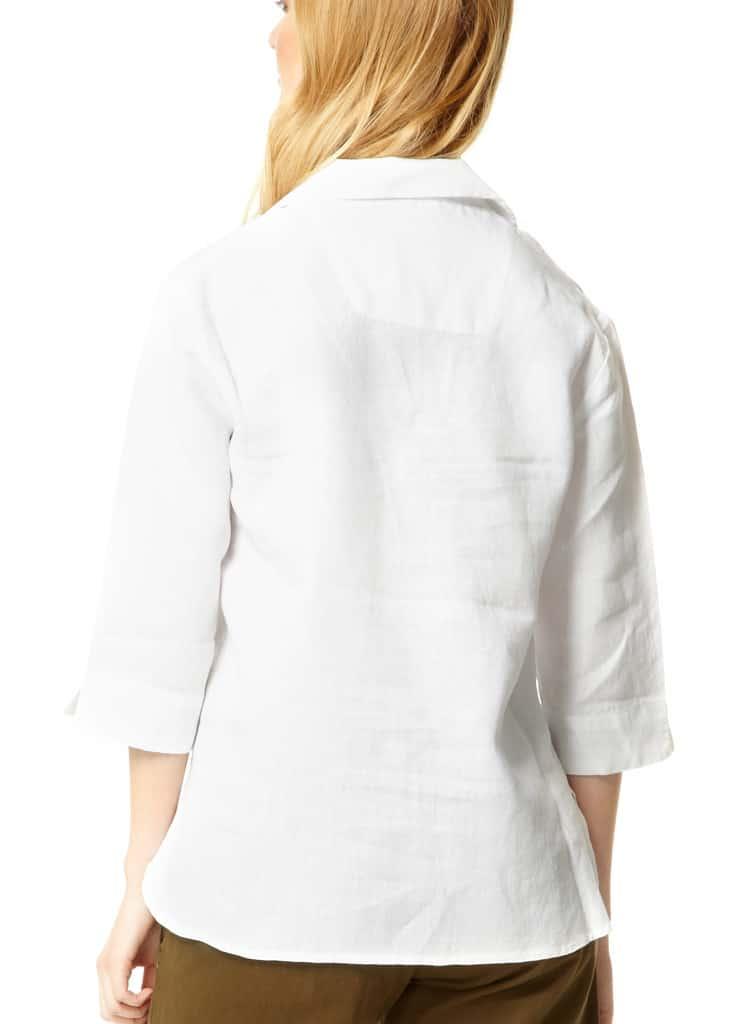 Ladies Linen Shirt White Travel Apparel Tim Best