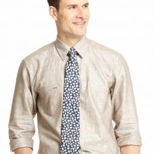 Linen Cotton Blend Shirt – Brown
