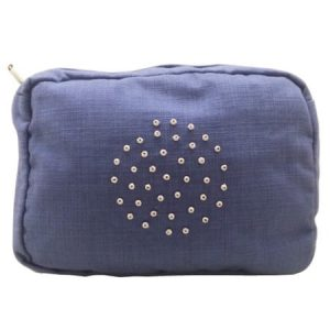 Cotton And Linen Wash Bag – Blue