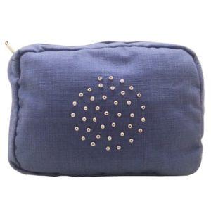 Cotton And Linen Wash Bag – Blue