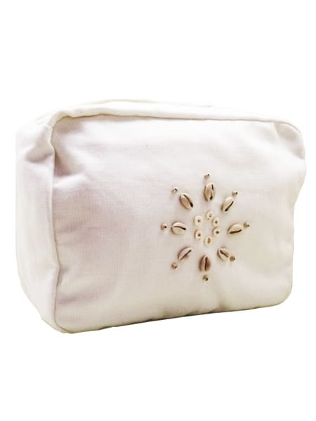 Linen and Cotton Wash Bag - Calico