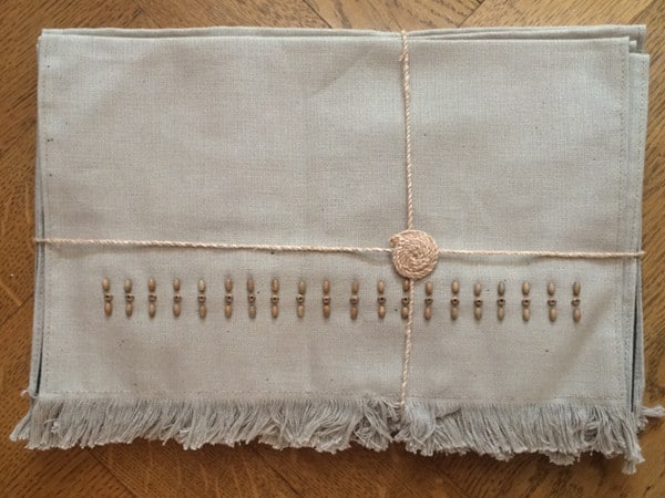 Handmade Table Mats - Hessian