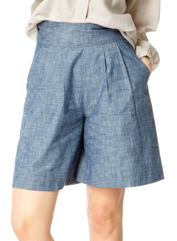 Chambray Pleat Culottes