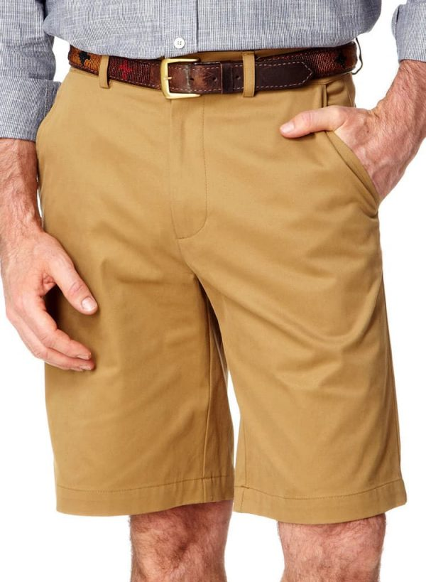 Cotton Safari Shorts - Tan