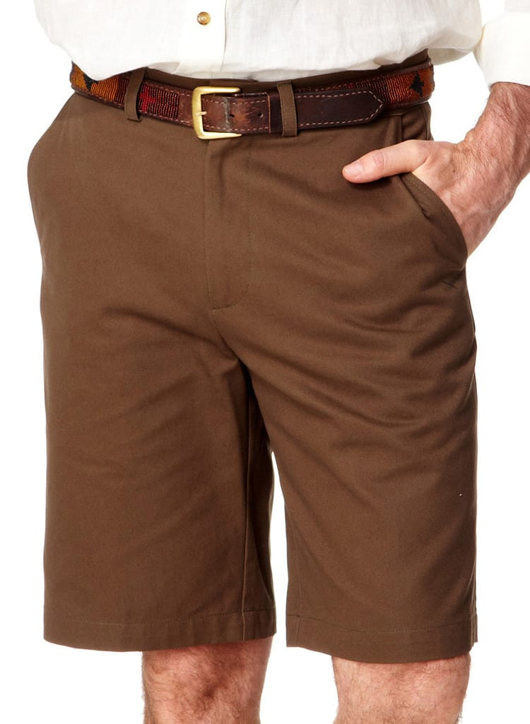 Mens Cotton Safari Shorts - Brown | Mens Travel Clothing | Tim ...