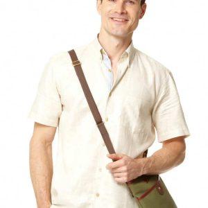 Linen Short Sleeved Shirt – Beige