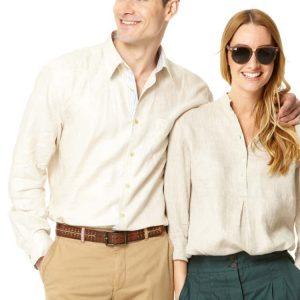 Linen Shirt – Beige