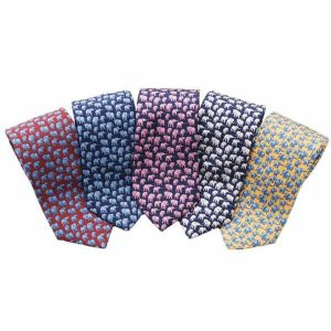 TUSK Elephant Silk Tie - Navy And Pink