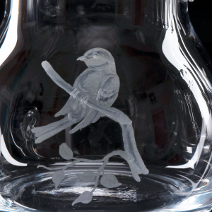 Crystal Water Jug 0.5 Litre Birds