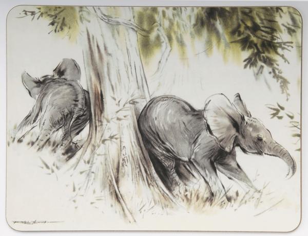 Table Mat - Elephants