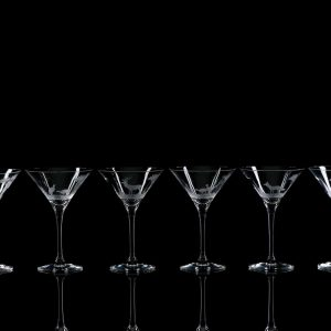 Crystal Martini Cocktail Glasses – Set Of Six