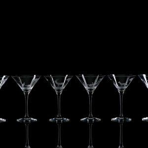 Crystal Martini Cocktail Glasses – Set Of Six