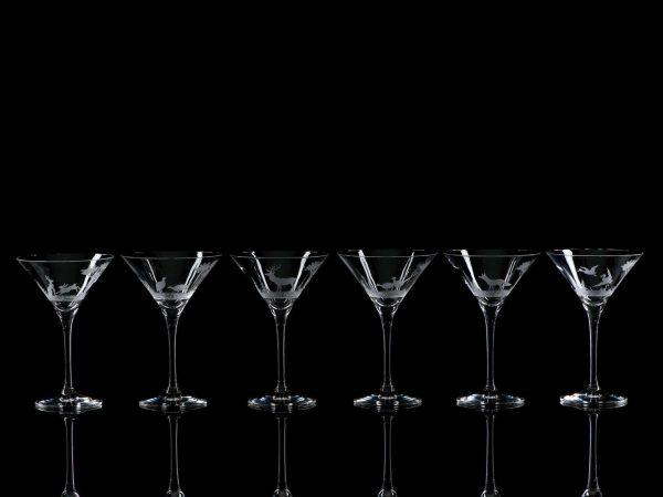 Crystal Martini Cocktail Glasses