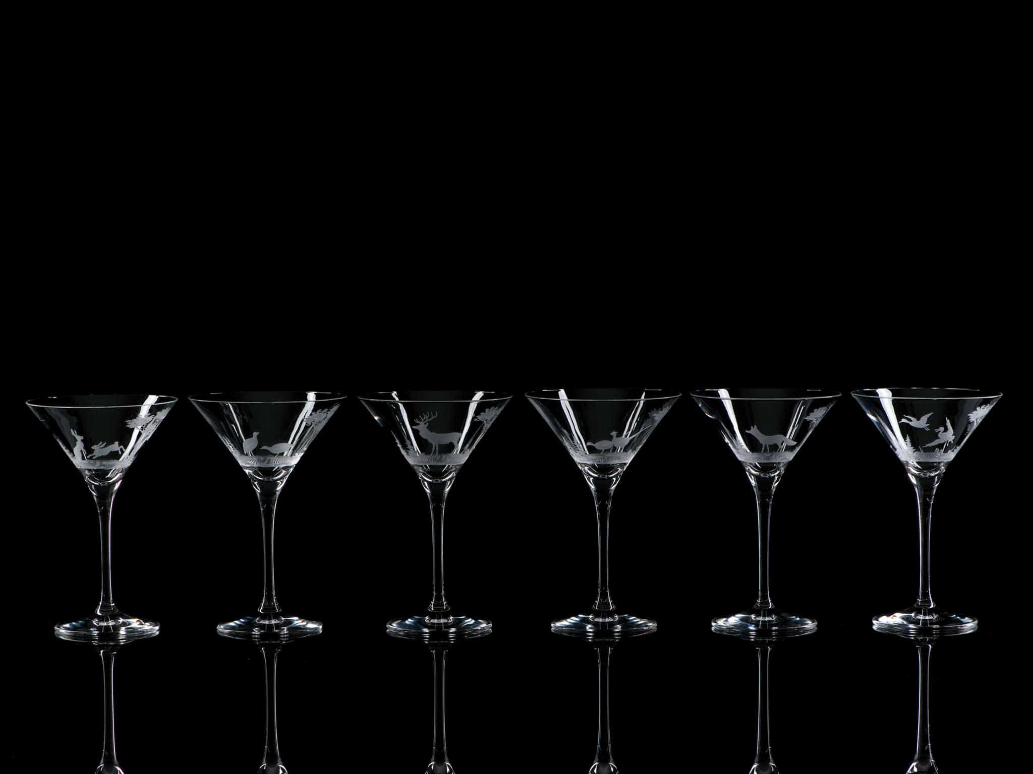 Crystal Martini Cocktail Glasses