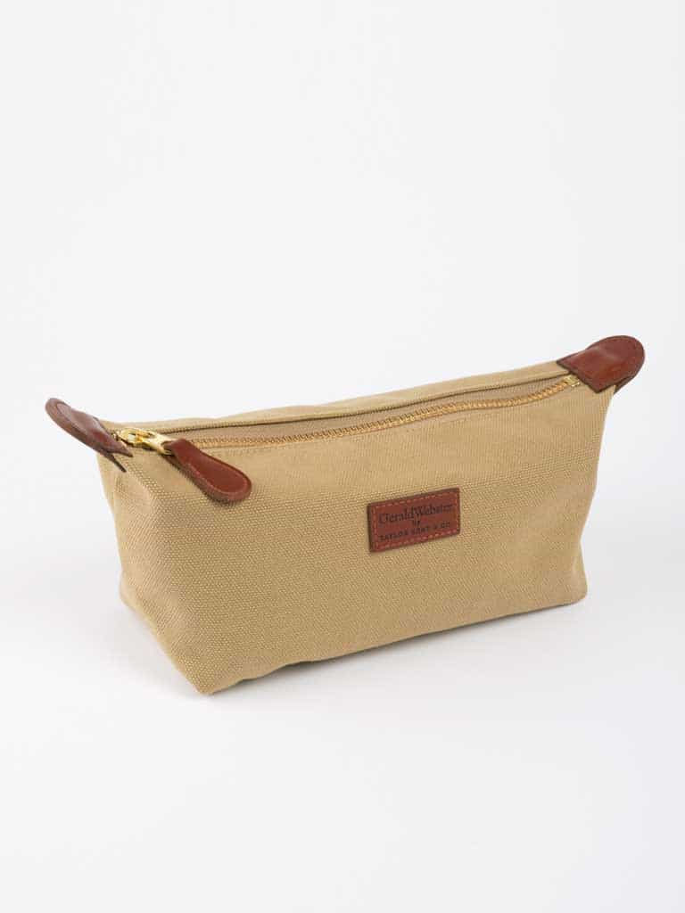 Canvas and Leather Wash Bag
