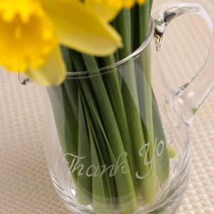 Crystal Water Jug 0.5 Litre - Thank You